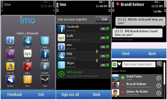 Nokia e72/e71 facebook application.