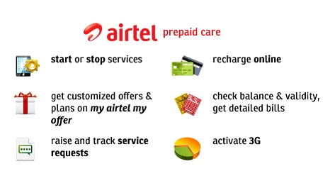 Airtel launches online self care service for prepaid mobile