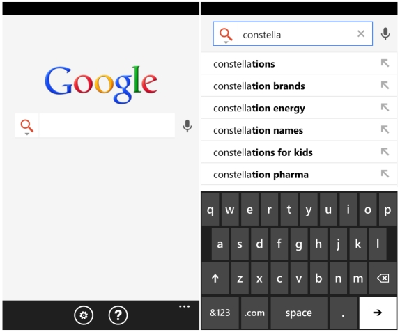 Google Launches Google Search App For Windows Phone