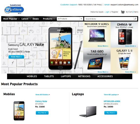Samsung India launches eStore – Online Store