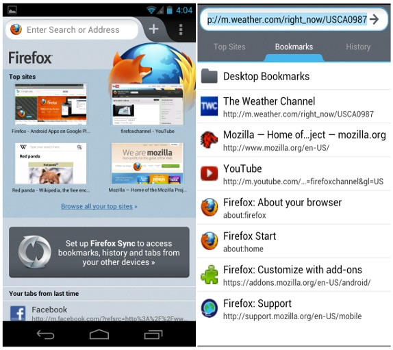 Firefox for Android v14 0 brings Faster start-up, new UI
