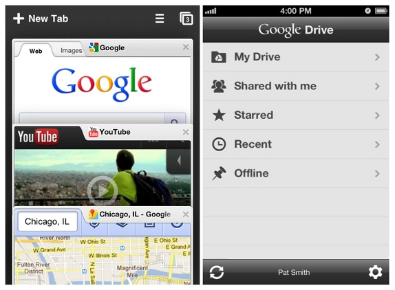 Google releases Chrome and Drive apps for iPhone and iPad