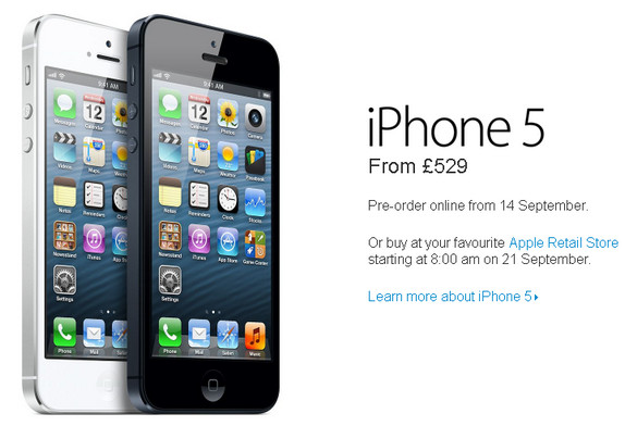iphone 5 unlocked price unlocked apple iphone 5 prices for uk revealed 4252
