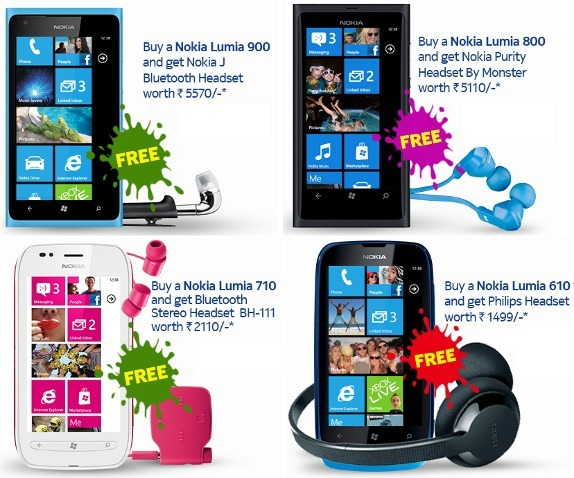 Buy A Nokia Lumia Phone Get Free Headset This Diwali In India