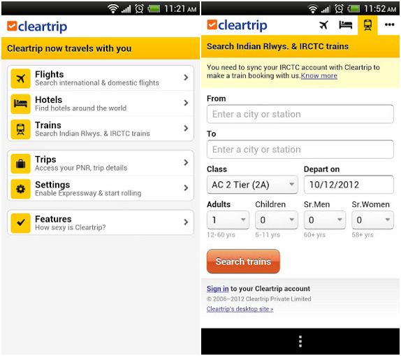Cleartrip app now available for Android