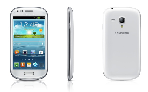 samsung galaxy s iii mini three up front back profile fone arena