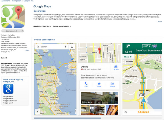 Downloadable Map App on