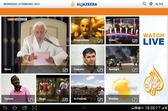 Al Jazeera for Android Tablets
