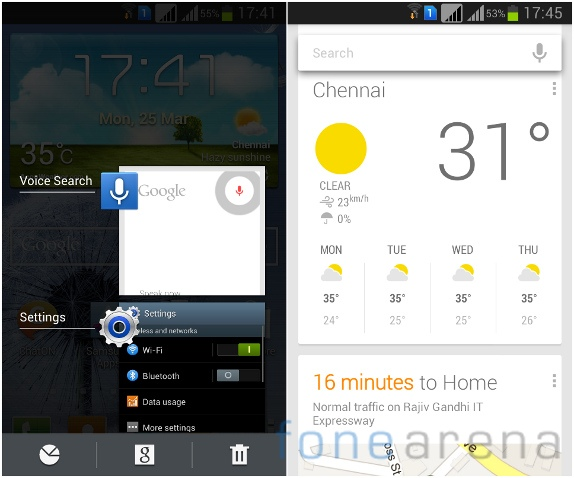 Galaxy Grand Duos Multitasking and Google Now