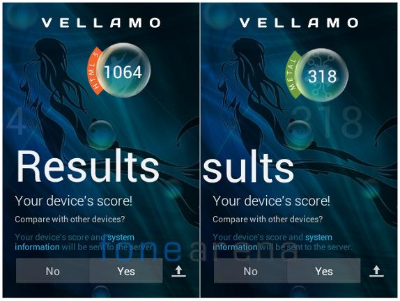 Sony Xperia E dual Vellamo 2.0