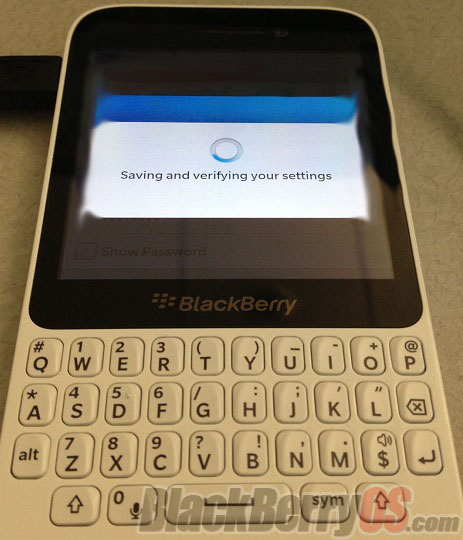 BlackBerry 10 R-Series QWERTY phone image surface