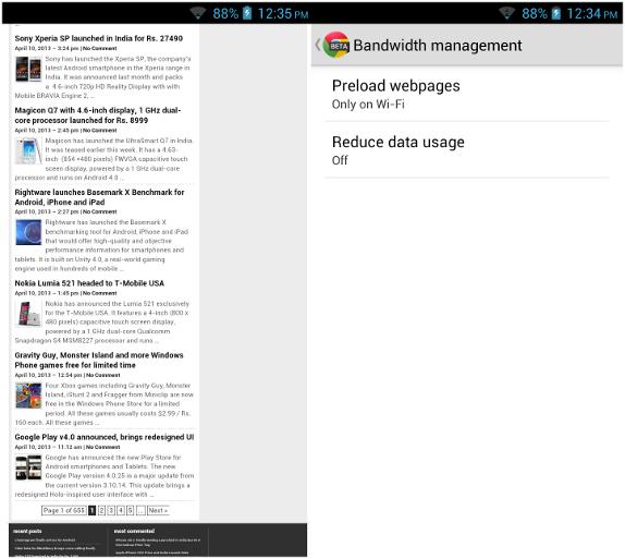 Chrome Beta v27 for Android brings fullscreen support for phones