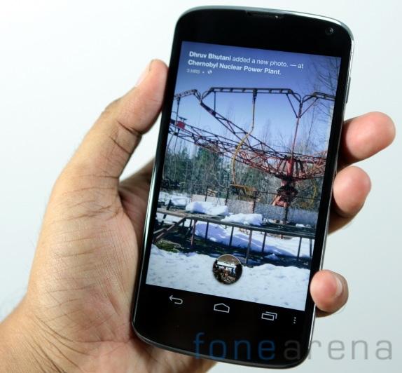 Facebook Home on Nexus 4