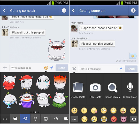 facebook messenger stickers android download