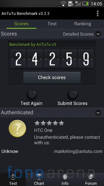 HTC One AnTuTu Benchmark 3.2