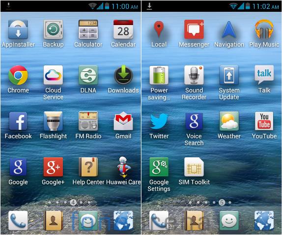 Huawei Y300 Apps