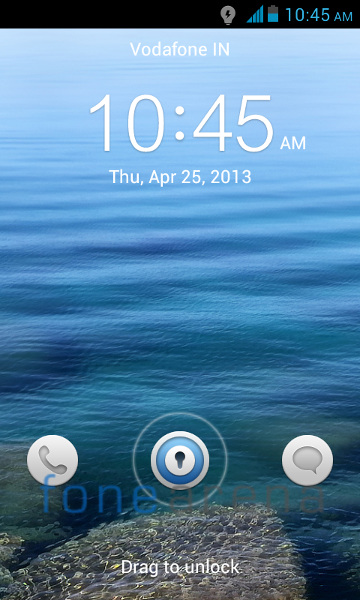 Huawei Y300 Lock screen