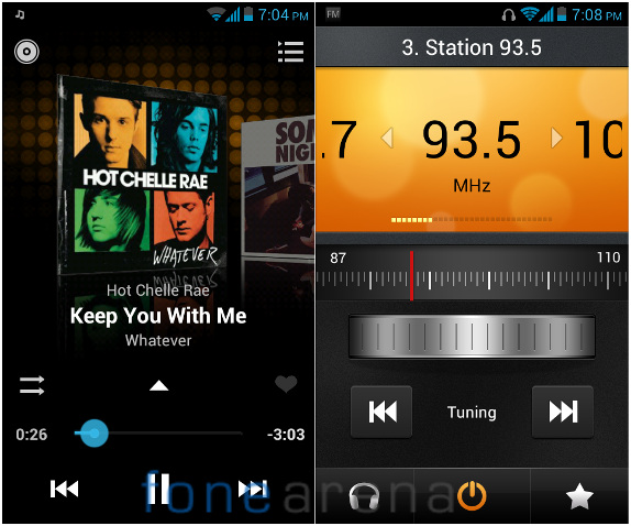 Huawei Y300 Music and FM Radio