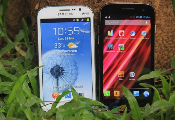 Samsung Galaxy Grand Duos vs Micromax Canvas HD-1