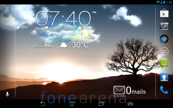 Fonepad Homescreen