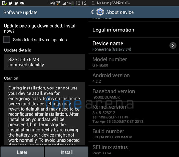 Samsung Galaxy S4 Gets First Software Update To Improve Stability