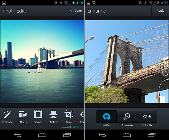 Aviary Photo Editor for Android 3.0