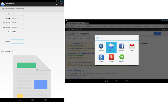 Google Cloud Print for Android