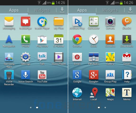 Samsung Galaxy Grand Quattro Apps