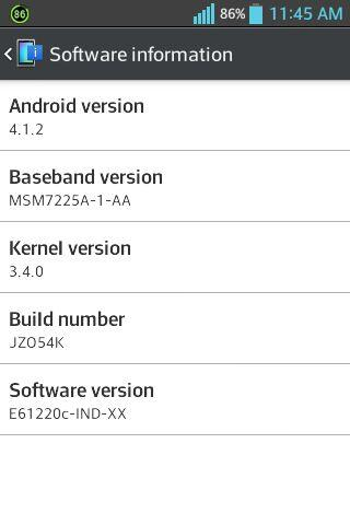 LG Optimus L5 Android 4.1 India