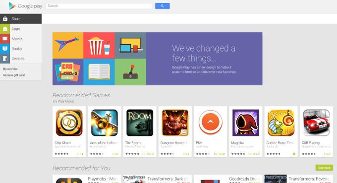 google play store website
