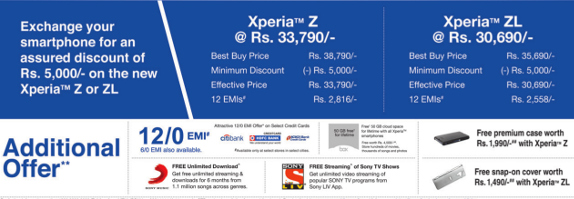 Xperia Xchange offer details