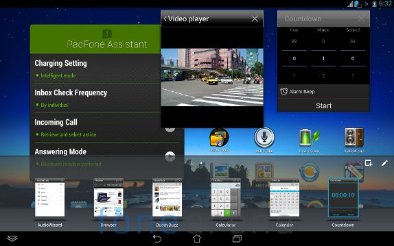Asus Padfone Infinity Floating Apps