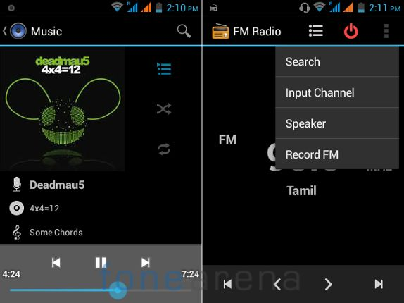 Intex Cloud X3  Music Player and FM Radio