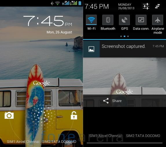 Micromax Canvas Doodle Lock Screen and Notifications