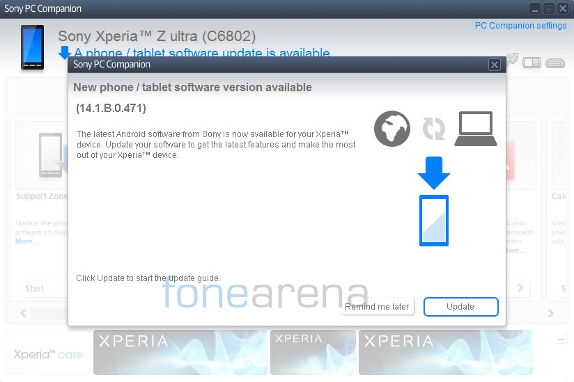 Sony Xperia Z Ultra 14.1.B.0.471 Update