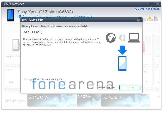 Sony Xperia Z Ultra 14.1.B.1.510 Update