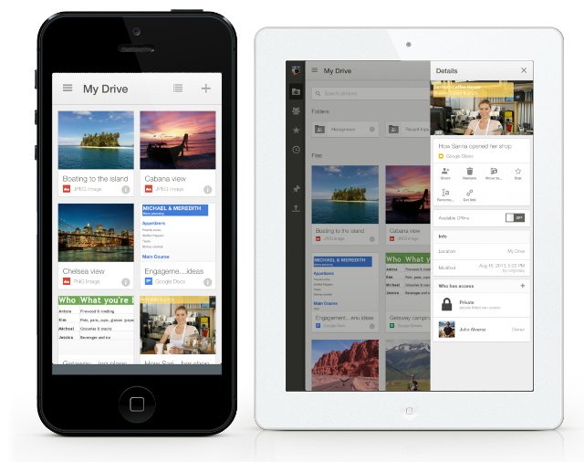 google drive for iphone drive 2 0 for iphone and brings a new design 5505