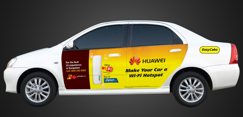Huawei Free Wi-Fi with easy cabs by Tata Docomo