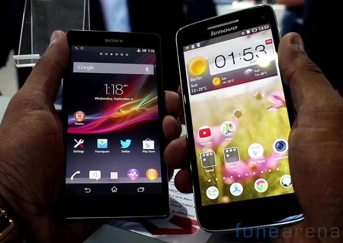 Lenovo Vibe X vs Sony Xperia Z
