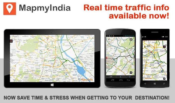 MapMyIndia Real time traffic