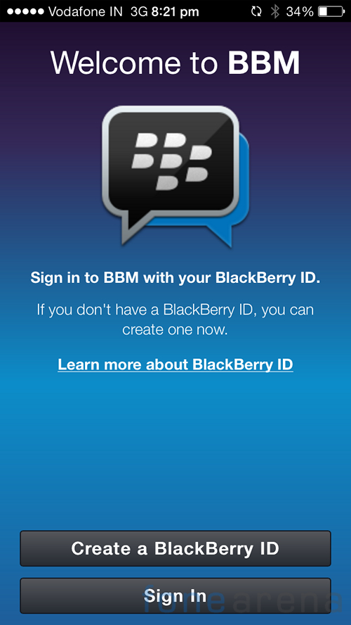 BBM for iPhone Price in India
