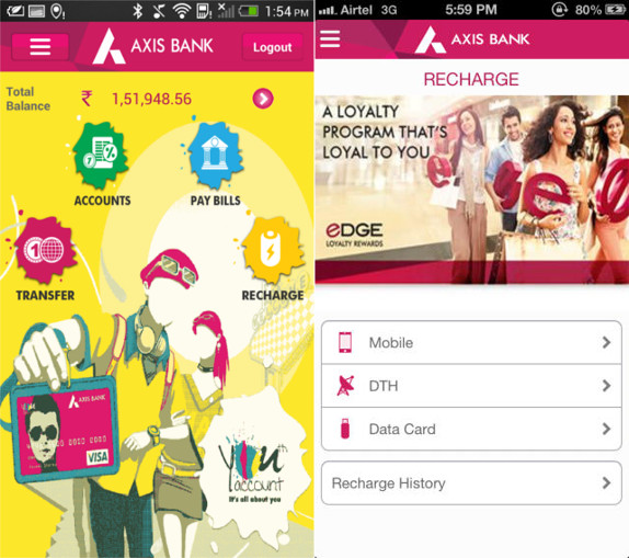 axis bank mobile banking apps for android