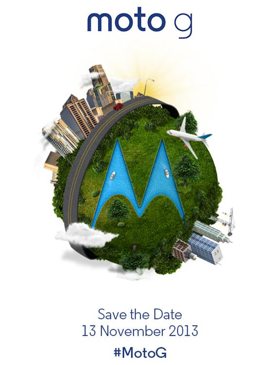 Motorola Moto G launch invite