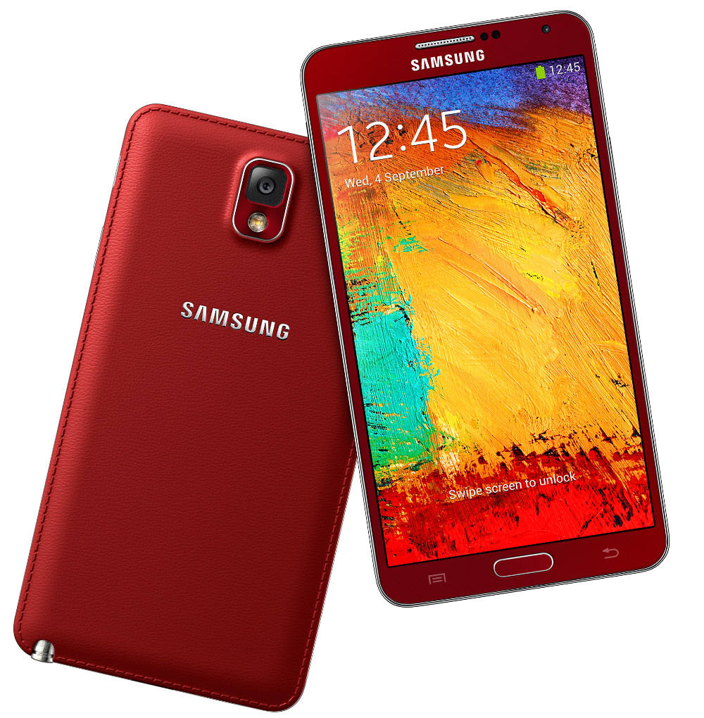 Red and White Gold Samsung Galaxy Note 3 go official in ...