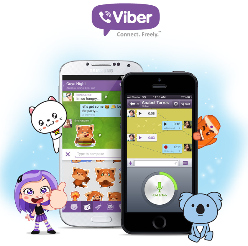 Viber 4 0 for Android and iPhone brings Sticker Market, Android