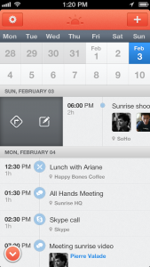 Sunrise on iOS