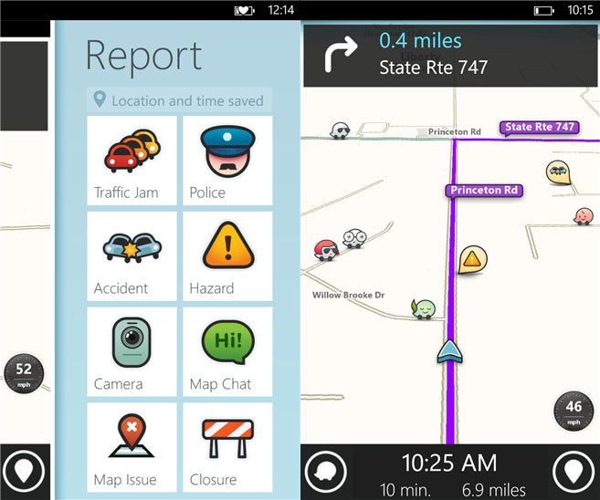 Waze – crowd sourced traffic and navigation app now