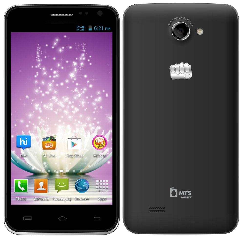 Micromax And MTS Partner To Launch Canvas Blaze Dual SIM