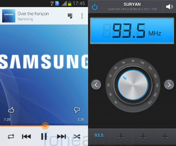 Samsung Galaxy Star Pro MusicPlayer and FM
