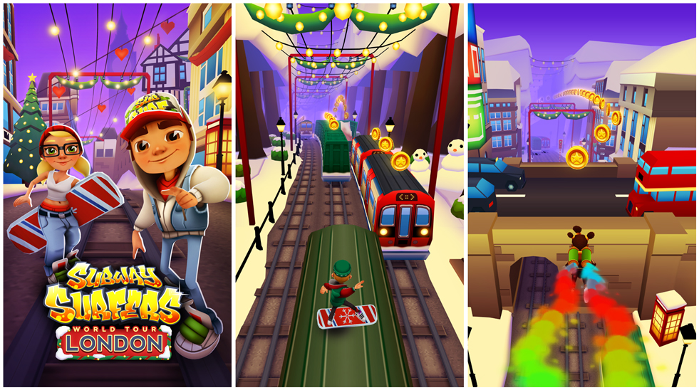 Subway surfers jump 3 trains completed youtube.